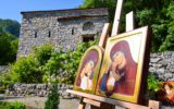 Радови Сање Миладиновић, студента Академије СПЦ и иконописца из Сокобање, изложени у оквиру манифестације Српско-Руски дани